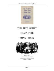 the boy scout camp fire song book - The Dump - ScoutsCan.com