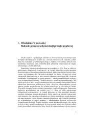Badanie procesu sedymentacji przeciwprądowej