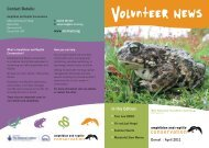 How you can help - Amphibian and Reptile Conservation