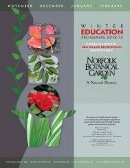 EDUCATION - Norfolk Botanical Garden