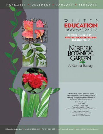 EDUCATION - Norfolk Botanical Garden