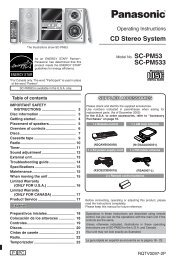 CD Stereo System SC-PM533 - Operating Manuals for Panasonic ...