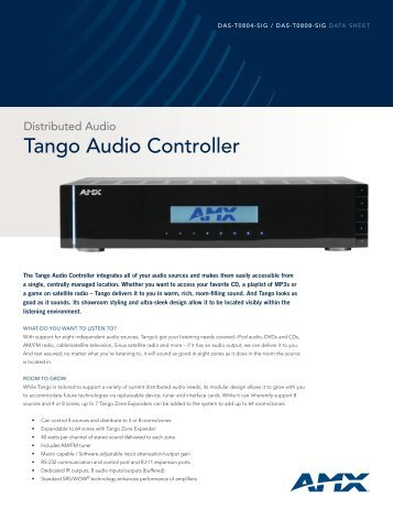 Tango Audio Controller - Hill Residential Systems