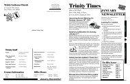 Newsletter - Trinity Lutheran Church