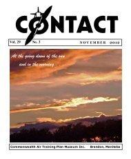 November 2012 - Commonwealth Air Training Plan Museum