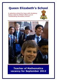 Queen Elizabeth's School - The TES