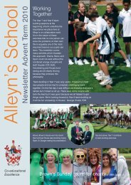 Newsletter Advent Term 2010 - Alleyn's School