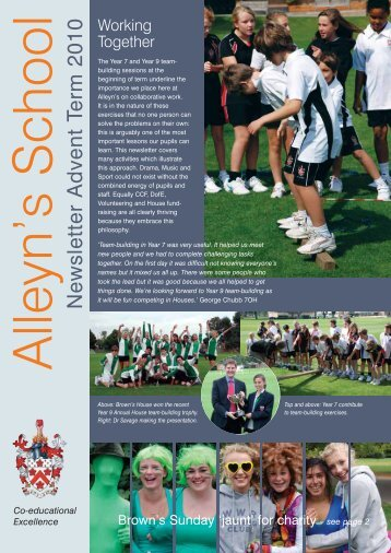 Newsletter Advent Term 2010 - Alleyn's School