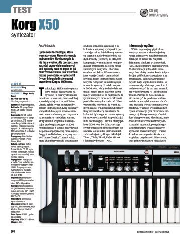 Test modelu X50 (PDF, 1.2MB) - Korg - Mega Music