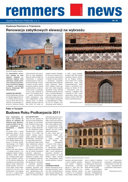 Remmers News nr 16 2/2012