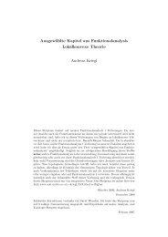K(apitel) Funktionalanalysis - an der Fakultät für Mathematik!
