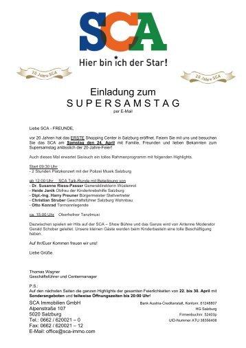 BANK AUSTRIA AG, KONTONR. 612 488 007 - SCA Shopping ...