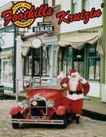 December 2011 - The Foothills Street Rod Association