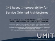 IHE based Interoperability for Service Oriented Architectures - GMDS