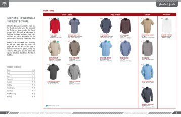 Product Grids SHOPPING FOR WORKWEAR ... - VF Imagewear