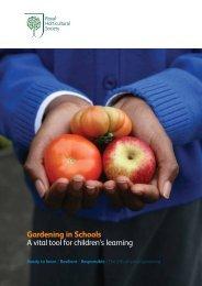 Gardening in Schools - Royal Horticultural Society