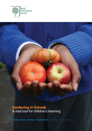 Gardening in Schools - Royal Horticultural Society
