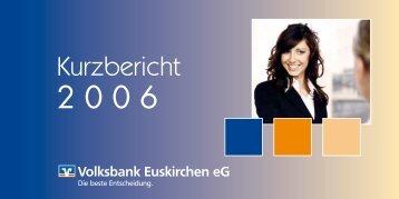 Kurzbericht 2006 - Volksbank Euskirchen eG