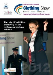 The only UK exhibition exclusively for the professional clothing ...