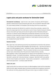 Logwin picks and packs workwear for Steinmüller GmbH - Logwin AG