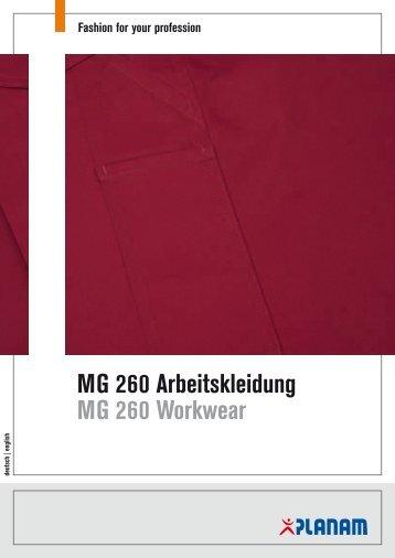 MG 260 Arbeitskleidung MG 260 Workwear - Planam