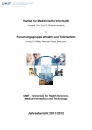 Jahresbericht 2011/2012 - Institute of Health Informatics - UMIT
