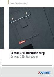 Canvas 320 Arbeitskleidung Canvas 320 Workwear - Planam