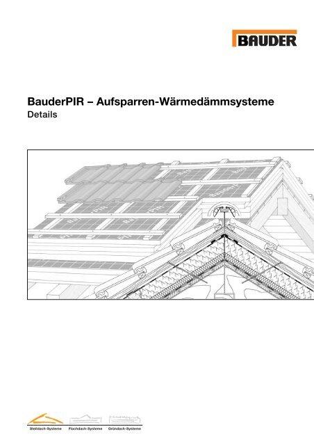 Aufsparrendammung Details Eubu Dach