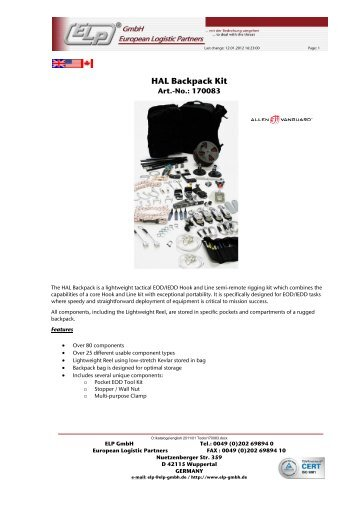 Kit Gmbh hook and line kits of allen vanguard ltd elp gmbh