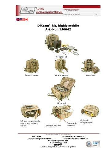 Kit Gmbh hal backpack kit elp gmbh