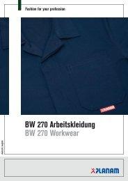 BW 270 Arbeitskleidung BW 270 Workwear - Planam