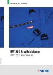 BW 290 Arbeitskleidung BW 290 Workwear - Planam