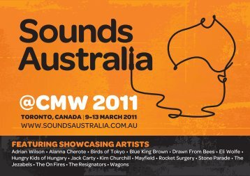 cmw 2011 featuring showcasing artists - Sounds Australia