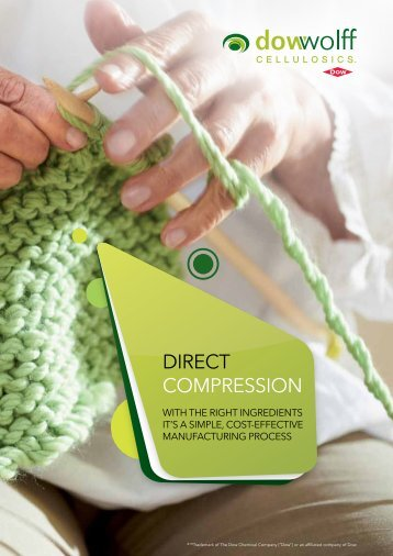 Literature: Direct Compression - The Dow Chemical Company
