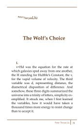 The Wolf's Choice - Camera Obscura Journal of Literature and ...