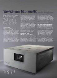 Introducing the Wolf Cinema DCL-200NX