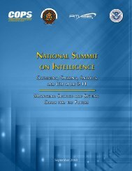 National Summit on Intelligence - Federation of American Scientists