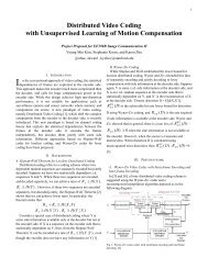 Distributed Video Coding with Unsupervised Learning of ... - scien