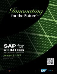 September 9 -12, 2012 - SAP for Utilities