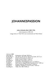 JOHANNESPASSION - Nederlandse Bachvereniging