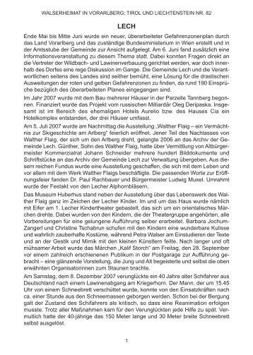 Chronik der Gemeinde Lech für das Jahr 2007 - Vorarlberger ...