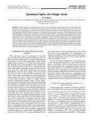 Quantum Optics of a Single Atom - MAIK