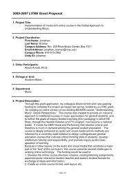 2005-2007 LITRE Grant Proposal - LITRE: Learning In A ...