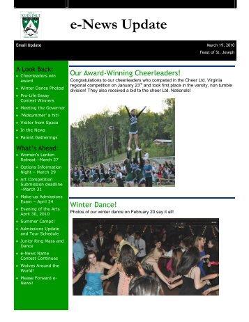 e-News Update - Pope John Paul the Great Catholic High School