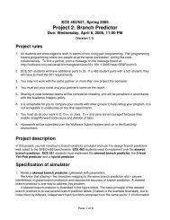 Project 2: Branch Predictor - NCSU COE People