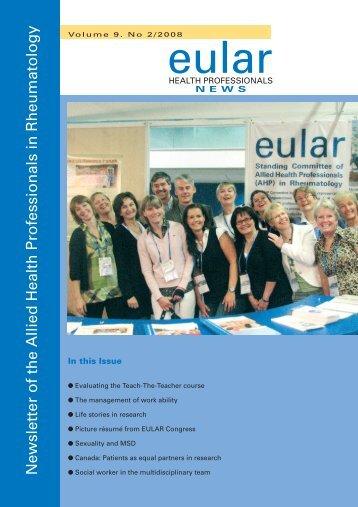 Newsletter 2/2008 - EULAR