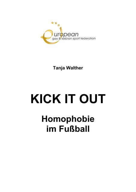 Tanja Walther Kick It Out Homophobie Im Fußball