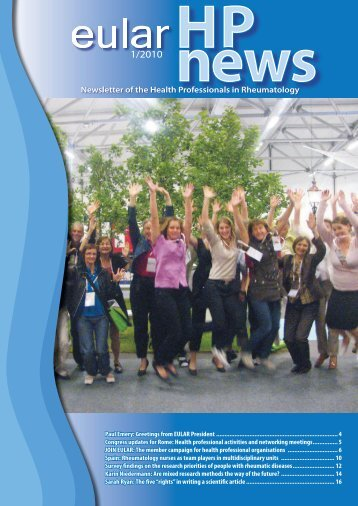 Newsletter of the Health Professionals in Rheumatology - Under ...