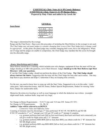 – UNOFFICIAL Clinic Notes (6/ 6/ 09 Connie Maloney ... - nawgj