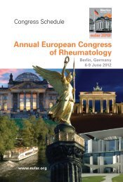 Annual European Congress Of Rheumatology - EULAR